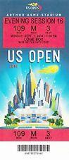 2014 US OPEN TENNIS Kei Nishikori VS Milos Raonic SESSION #16 TICKET STUB 9/1