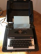 Vintage Olympia X-L12 Electric Portable TYPEWRITER w/ Case Power Return. Tested