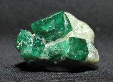 Deep Green Emerald Crystals in Matrix from Panjshir Valley, Afghanistan