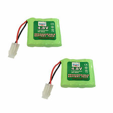 2 pcs 4.8V 1300mAh Ni-MH Rechargeable Battery Cell Pack Toy