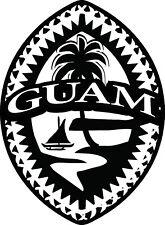 "Tribal Guam Decal - 6"" Tall - Gerard Aflague Collection"