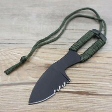 Outdoor Multi-function Survival Military Stainless Steel Tactical Knife +Sheath