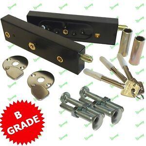 Enfield Federal Security D613 Garage Door Locks Bolts 1 Pair Keyed Alike B-Grade
