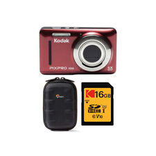 Kodak PIXPRO Friendly Zoom FZ53 Digital Camera Red with Case and Memory Card