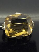 Antique Citrine Brooch Pin Silver Victorian Small Beautiful Marcasites Circa1870