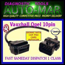 Vauxhall OPEL 10 Pin a 16 Pin OBD2 DIAGNOSTIC CAVO ADATTATORE