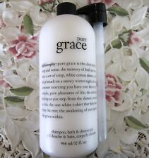 ~PHILOSOPHY~PURE GRACE~ SHOWER GEL w/ Pump~32 OZ-HUGE *NEW*
