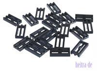 LEGO - 20 x Gitterfliese 1x2 schwarz / Black Tile Modified Grille  2412b NEUWARE