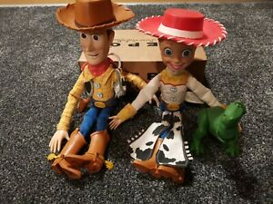 Toy Story Bundle Pull String Talking REX, Woody And Jessie
