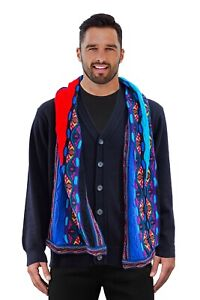 Geccu Australian Merino Wool 3D Multi Colour Knitwear Men's Scarf (Coogi Look)