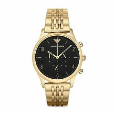 Emporio Armani AR1893 Mens Beta Gold Chronograph Watch -