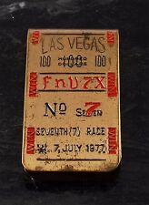 "Rare LAS VEGAS 100  ""FnV7X""  No 7 Seventh (7) Race Money Clip July 7 1977 Used"