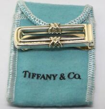 Tiffany & Co. Sterling Silver X Money Clip With Pouch