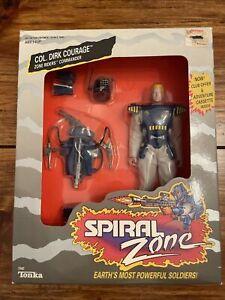 1987 Tonka Spiral Zone Col. Dirk Courage Action Figure Riders CommanderOPEN READ
