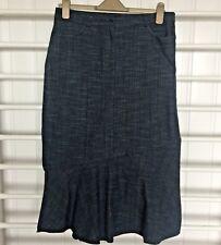 """Denim Fishtail Skirt Size 14 Length 30"""" Waist 32"""""""