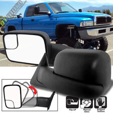 Left+Right 1994-2001 Dodge Ram 1500 94-02 2500/3500 Flip Up Manual Tow Mirrors