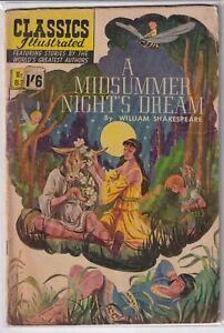 "Classics Illustrated #87 ""Shakespeare's A Midsummer Nights Dream"" 1951 HRN 161"