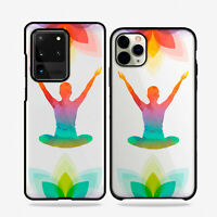 Carcasas Funda De Telefono Móvil TPU Diseño Yoga Relax Mano Flor Loto Ojo Paz