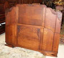 Quality Walnut 1930s Carved Standard Double Bed Arts And Crafts Pretty And Colorful Antiques
