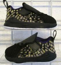 Boy's Toddler Nike Lebron XVII (TD) Sneakers, New Black Beige Walking Shoes 6c