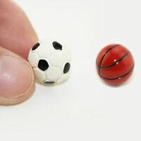 1:6/1:12 Dollhouse Miniature Sports Balls Soccer Football and Basketball DecorS*