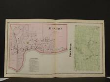 Michigan St Joseph County 1872 Fawn River Township, Mendon Double Page Y9#07