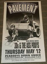 Pavement 3D's Ass Pony Peabodys Down Under concert poster flyer Derek Hess