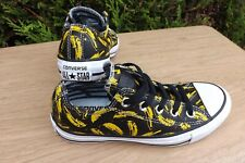 CONVERSE ALL STAR ANDY WARHOL BLACK OX LEATHER BANANA LO TOP TRAINERS SIZE UK 3