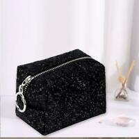 Cosmetics Bag Sequin Stylish Portable Makeup Bag Lightweight Carry It Easily
