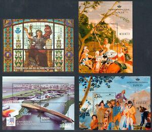 ESPAÑA - AÑO 2008 -  4 HOJAS BLOQUE - EDIFIL 4427/28** - 4423** - 4445** - MNH