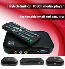 HD Multi Media Player Box Full 1080P Outputs HDMI VGA AV inputs SD 2 USB up2 2TB
