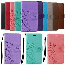Butterfly Wallet Leather Flip Stand Case Cover For iPhone 5 6 7 8 Plus XR XS Max