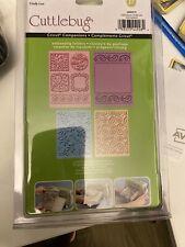 New listing 4 Cuttlebug Embossing Folder Cindy Loo Shower Invitation Tag A2 Cricut Paisley