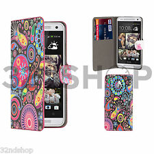 32nd Design Book PU Leather Wallet Case for HTC Desire 626 Screen Protector Jellyfish
