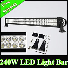 42 INCH 240 WATT 80 LEDS WORK FOG WHITE LED LIGHT BAR FOR OFFROAD CAR SUV ROOF