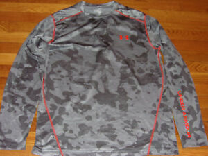 UNDER ARMOUR COLDGEAR LONG SLEEVE CAMO FITTED JERSEY MENS X-LARGE EXCELLENT