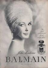 1963 Jolie Madame Balmain  Perfume Vintage Bottle PRINT AD