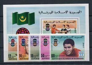 Mauretanien 584/88 Block 19 postfrisch / Fußball .........................1/3823
