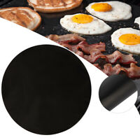 Round Heat Resistant BBQ Grill Mat  Sheet Non-Stick Barbecue Bake Meat Pad