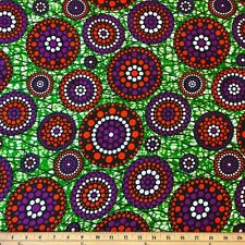 African Print Fabric 100% Cotton 44'' wide sold by the yard (90119-6)