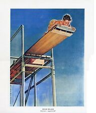 Norman Rockwell Diving Print High Board