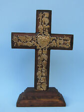 WOOD MILAGRO CROSS HAND MADE MEXICAN FOLK ART