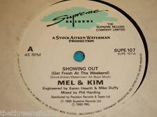 "VINYL 7"" SINGLE - MEL & KIM - SHOWING OUT - SOPE 107"