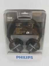Philips Headband Headphones SHL3000 Black Dj Monitor Reversible Style New