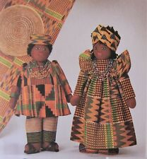 McCall's 7116 Doll Pattern Heritage Stuffed Doll  Native American Arican UNCUT