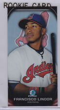 FRANCISCO LINDOR Mini REFRACTOR ROOKIE CARD Bowman Chrome INDIANS BASEBALL RC
