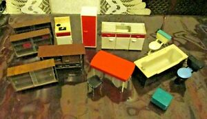 vintage TRIANG - 16th scale - FURNITURE JOBLOT FOR UPCYCLE or REPAIR