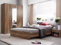Bedroom furniture set suite wardrobe bedside chest of drawer bed frame bedside