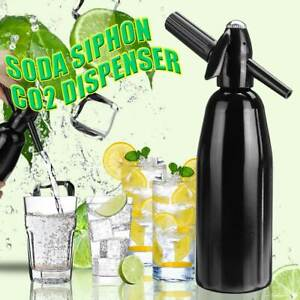 1L Aluminium Soda Siphon Seltzer Water Machine Carbonator Fizz Maker Sparkling