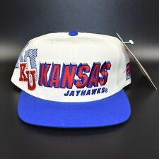 Kansas Jayhawks Vintage 90's Sports Specialties Laser Shadow Snapback Cap Hat